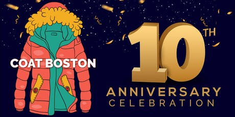 City Mission's 'Cheers to 10 Years!' Coat Boston Anniversary Celebration tickets