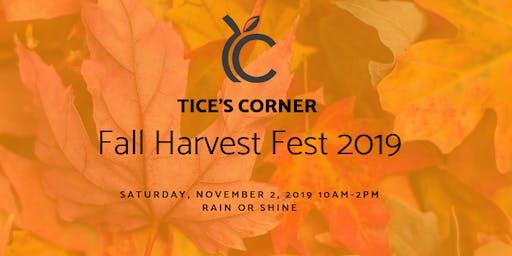 Tice's Corner Fall Harvest Fest 2019