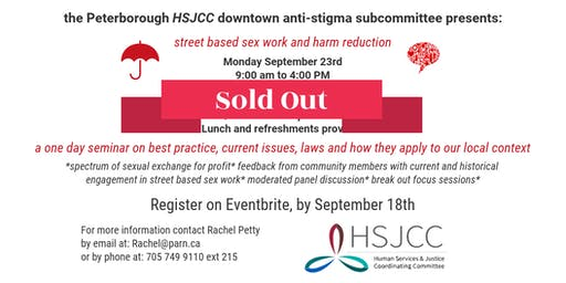 street based sex work and harm reduction: SOLD OUT