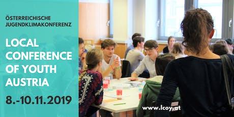 österreichische Jugendklimakonferenz LCOY Austria 2019 billets