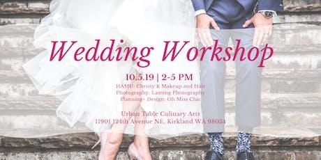 Wedding Workshop tickets