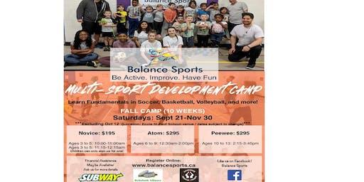 Fall Multi-Sport Development Camp (10 Weeks)