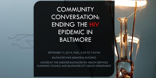 Special Mtg: Community Discussion on Ending the HIV Epidemic in Baltimore