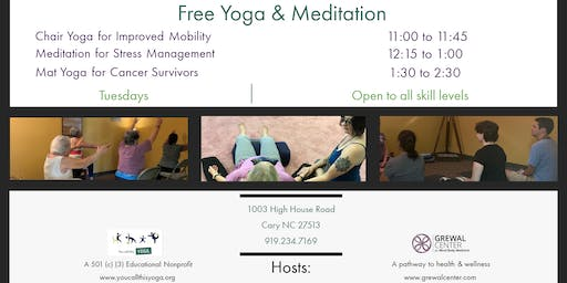 FREE Chair Yoga Class at The Grewal Center