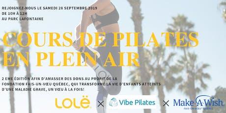 Pilates au Parc Lafontaine au profit de Fais-Un-Vœu Québec billets