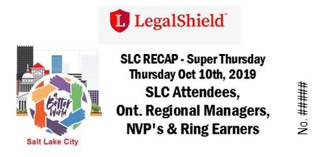 LegalShield Ontario, Canada Super Thursday - October 10, 2019 tickets