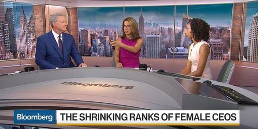 Bloomberg: The Shrinking Ranks of Female CEOs. (Train women to be leaders!)