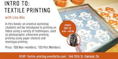 Intro to Textile Printing