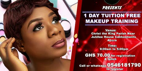 1 Day Tuition Free Makeup Training tickets