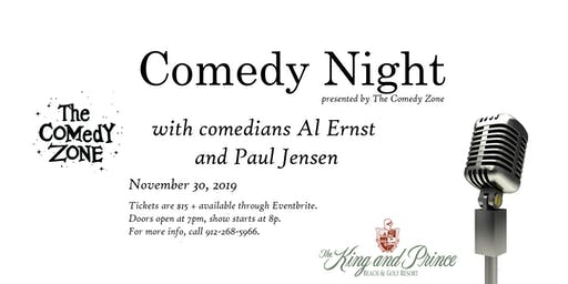 Comedy Night at The King and Prince, presented by The Comedy Zone