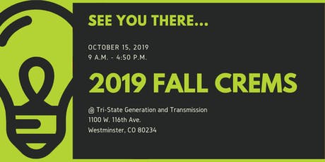 2019 Fall CREMS  tickets