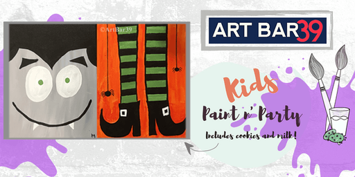 Kids Painting Party | Halloween Friends | Includes Cookies & Milk!
