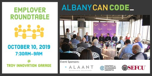 Albany Can Code: Employer Roundtable on 10/10/19