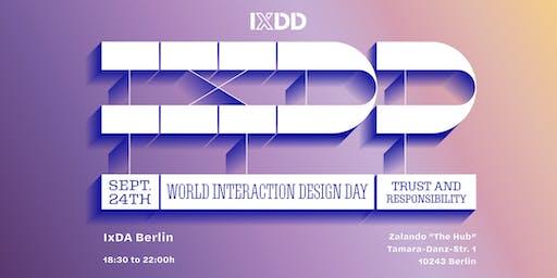 IxDA Berlin #72 (#IxDD): Trust & Responsibility