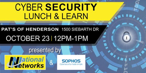 Cybersecurity  Lunch & Learn