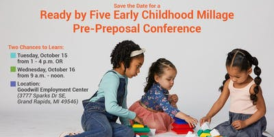 Ready by Five Pre-Preposal Conference - Afternoon Session