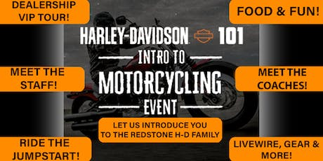 H-D 101 Intro to Motorcycling Event! tickets