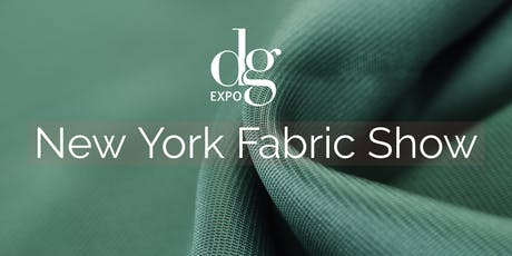 NEW YORK FABRIC SHOW/ DG EXPO / JAN. 2020 tickets