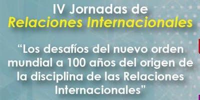 IV Jornadas de Relaciones Internacionales, pt. 1