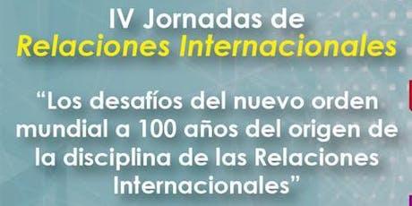 Copy of IV Jornadas de Relaciones Internacionales, pt. 2 tickets