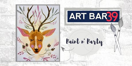 Paint & Sip | ART BAR 39 | Public Event | Oh Deer! tickets