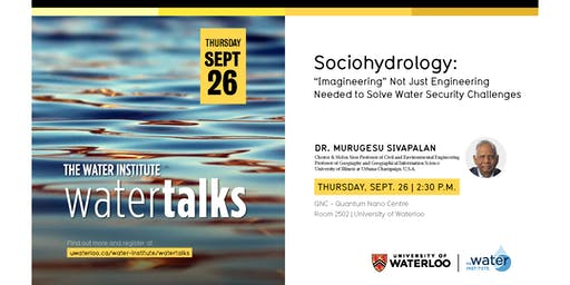 "WaterTalk: Sociohydrology: ""Imagineering"" Not Just Engineering Needed..."