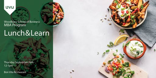 UVU|MBA° Lunch and Learn