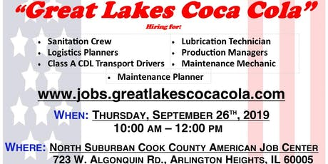 Employment Workshop with Great Lakes Coca Cola tickets
