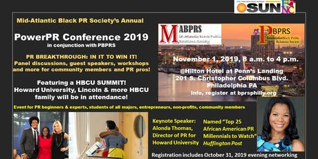 Mid-Atlantic Black PR Society annual PowerPR Conference w/ PBPRS tickets