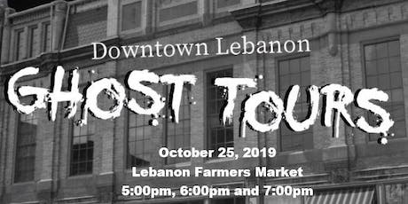 October 25th - Downtown Lebanon Ghost Tours  tickets