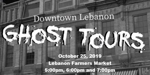 October 25th - Downtown Lebanon Ghost Tours