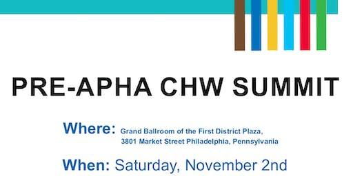 Pre-APHA CHW Summit 2019