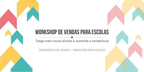 Workshop de vendas para escolas: traga mais alunos e aumente a rematrícula tickets