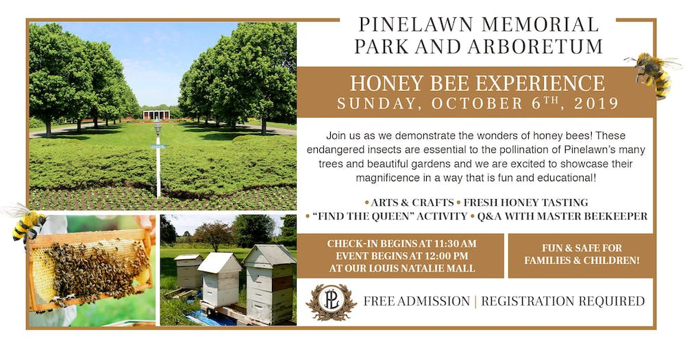 Pinelawn Honey Bee Experience Registration, Sun, Oct 6, 2019