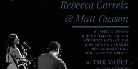 Rebecca Correia & Matt Cusson tickets