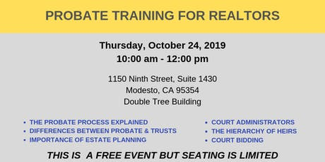 Probate Training for Realtors tickets