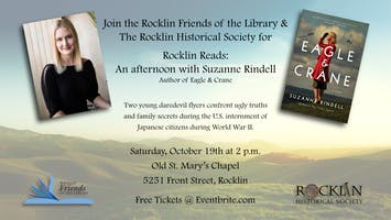 """Rocklin Reads"" - An Afternoon with Author, Suzanne Rindell"
