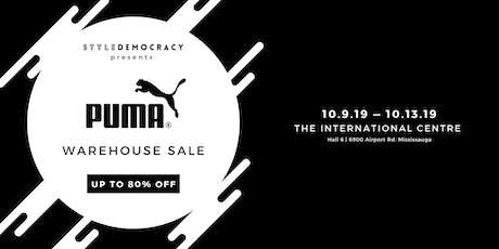 Puma Warehouse Sale tickets