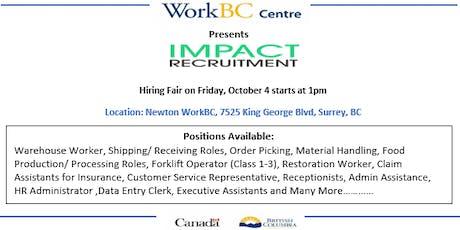 Impact Recruitment Hiring Fair tickets