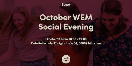 October WEM Social Evening Tickets