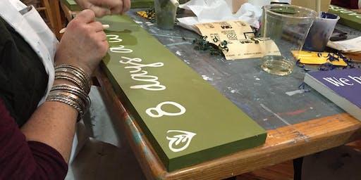 Sign Making Workshop