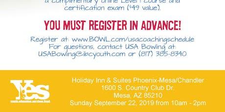 FREE USA Bowling Coach Certification Seminar - Holiday Inn & Suites Phoenix - Mesa/Chandler, Mesa, AZ tickets