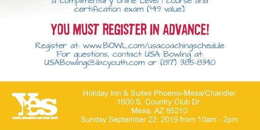 FREE USA Bowling Coach Certification Seminar - Holiday Inn & Suites Phoenix - Mesa/Chandler, Mesa, AZ