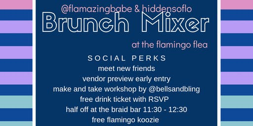 September brunch mixer at the flamingo flea