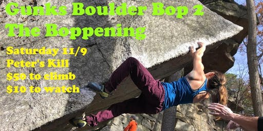Gunks Boulder Bop 2: the Boppening