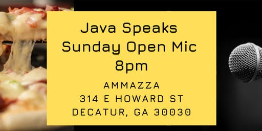 Java Speaks Open Mic