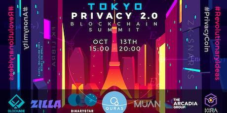 Tokyo Privacy 2.0  Blockchain Summit  privacysummit.tokyo tickets