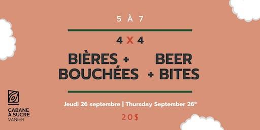 5 à 7 - Bières et bouchées | Beer & bites