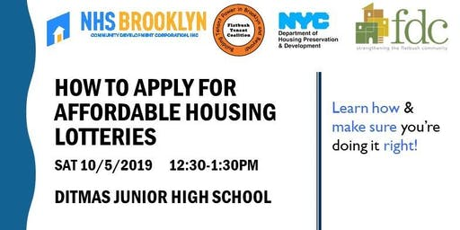 How to Apply for Affordable Housing Lotteries