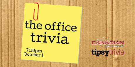 The Office Trivia - Oct 1, 7:30pm - Canadian Brewhouse Airdrie tickets